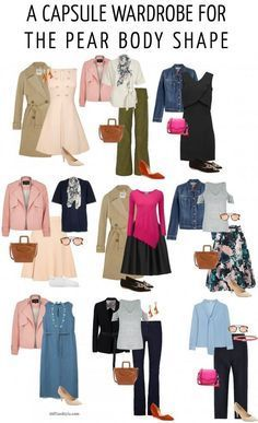 How to dress the pear body shape - A capsule wardrobe for t Pear Shaped Dresses, Pear Shaped Outfits, Capsule Wardrobe, Wardrobe Ideas, Pear Shape Fashion, Triangle Body Shape, Pear Shape Body, Pear Shaped Women, Pear Shaped Bodies