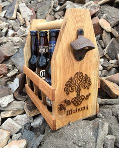 A personal favorite from my Etsy shop https://www.etsy.com/listing/272636070/oak-personalized-celtic-irish-beer-tote