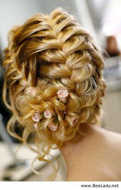 Pretty hairstyle for wedding - BeaLady.net