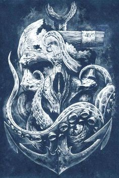Very cool tattoo design - Andreas Hofmann - Men tattoo - . - Very cool tattoo design – Andreas Hofmann – Men tattoo – - Marine Tattoos, Navy Tattoos, Trendy Tattoos, Tattoos For Guys, Cool Tattoos, Nautical Tattoos, Octopus Tattoo Design, Octopus Tattoos, Tattoo Design Drawings