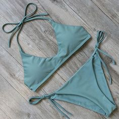 Teal Solid Chic Bikini   #dresses #love #DreamClosetCouture #Fashion #rompers