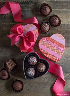How to Make a Washi Tape Heart Box is part of How To Make A Washi Tape Heart Box Lia Griffith - Make a special Valentine for your sweetheart! Today I'm showing you how to make a Washi Tape heart box that you can fill with yummy truffles Happy Chocolate Day Images, Love Chocolate, Chocolate Lovers, Valentine Chocolate, Saint Valentine, Valentine Day Love, Valentine Day Crafts, Valentine Wishes, Chocolates