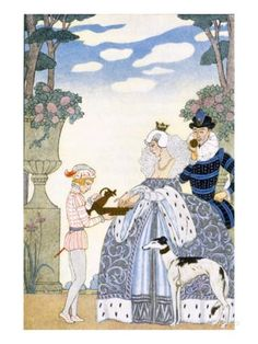 Elizabethan England, from 'The Art of Perfume', Pub. 1912 (Pochoir Print) Impression giclée par Georges Barbier sur AllPosters.fr