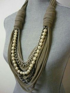 Different idea for a wrapped winter necklace