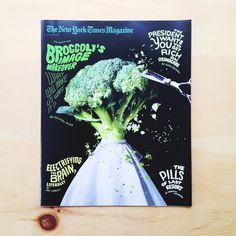 I did the type for the cover of this week's New York Time's Sunday Magazine. Eat your broccoli everyone!