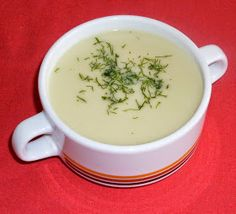 Malvin diétázik! : Pikáns leves kovászos uborkából Tea Cups, Soup, Tableware, Dinnerware, Tablewares, Soups, Dishes, Place Settings, Cup Of Tea