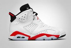 NIKE AIR JORDAN 6 RETRO WHITE/INFRARED-BLACK #sneaker