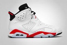 NIKE AIR JORDAN 6 RETRO WHITE/INFRARED-BLACK #sneaker