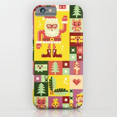 Christmas Geometric Pattern No. 1 iPhone iPod Case by Chobopop. 6 plus. cute. society 6. also available as a mug, t-shirt, pillow, art and more...$35.00
