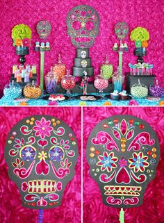 Trend Alert: DIY Day of the Dead Sugar Skull Party Decorations by Soiree Event Design