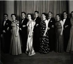 College Junior Ball Leaders and Guests [1937]