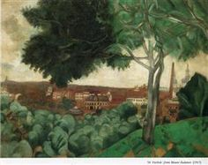 Vitebsk from mount Zadunov - Marc Chagall