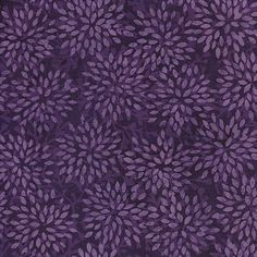 Dalia Batik By-The-Yard: Purple; Cotton fabric by Island Batik at TCSFabrics.com #Batik #Fabric #Meadow #IslandBatik #111504015 #DIY #Quilt #Craft #Décor #Apparel
