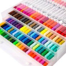 Dual Head Marker Pen Watercolor 0 4mm Slim Sketch Pen 1mm Soft