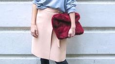 Try This: Leather Pants Under a Skirt | StyleCaster