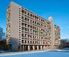 Paris, avril 2015. Exposition-événement sur l'œuvre de Le Corbusier - la Cité radieuse à Marseille