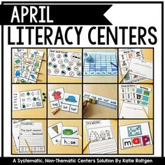The April Literacy Centers includes 20 literacy centers to use for your kinders any time throughout a year. While these are designed with April in mind, these can be used any time throughout the year in a center or rotation. The five center types are sight words, sort it out, letters and sounds, literacy spotlight, and I'm a writer. Included with the download is a file with labels, tracking cards, student instructions, and more helpful ideas to use these literacy centers to full potential.