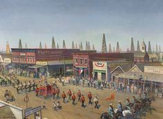 Armistice Day Parade of 1922, Mexia, Texas, United States, 1980, by John Philip Falter.