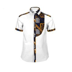 New African Men Short Sleeve Dashiki Slim Fit Shirts – Professional Office İdeas African Shirts For Men, African Dresses Men, African Clothing For Men, African Attire, African Wear, African Outfits, African Style, Nigerian Men Fashion, African Fashion