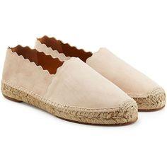Chloé Suede Espadrilles ($251) ❤ liked on Polyvore featuring shoes, sandals, flats, beige, beige sandals, beige flats, suede flats, chloe sandals and espadrille sandals
