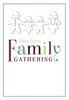 Time for a Family Gathering - Free Printable Family Reunion Invitation Template | Greetings Island