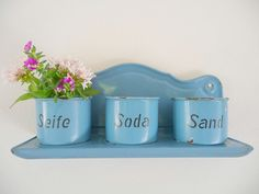 Hey, I found this really awesome Etsy listing at https://www.etsy.com/listing/223786016/vintage-enamelware-shelf-wall-rack-blue