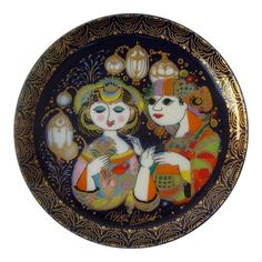 """Bjorn Wiinblad for Rosenthal Studio-Linie """"Aladin"""" Series Hanging Plates, Plates On Wall, Plate Design, Modern Artists, West Palm, Mid Century Design, Vintage Walls, Home Deco, Vintage Antiques"""