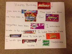 Husband birthday candy sign