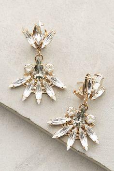 Fanned Crystal Earrings