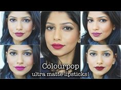 Colourpop Ultra Matte Liquid Lipsticks for Indian/Brown/Medium skin! Review & Swatches! - YouTube