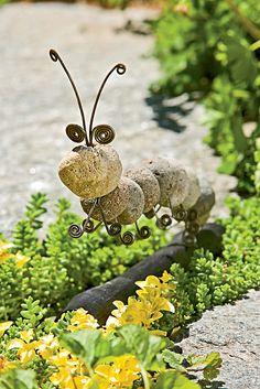 Decorative Stone Caterpillar | Buy from Gardener's Supply