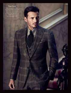 Tom Ford checkered suit.
