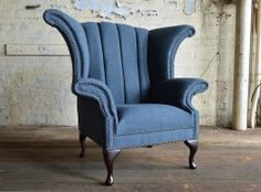 Modern Handmade Ashbourne Chesterfield Wing Chair