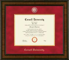 University Diploma, Diploma Frame, Cornell University, Gold Wood, Certificate Background, Diploma Display