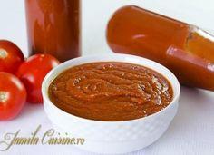 Ketchup, Romanian Food, Tzatziki, Hot Sauce Bottles, Peanut Butter, Pudding, Favorite Recipes, Canning, Sweet