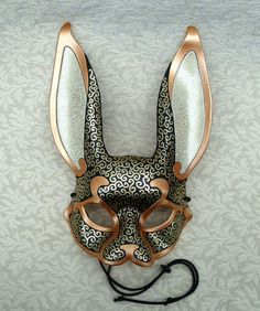 Venetian Rabbit Mask, handmade leather rabbit by Merimask. Really cool masks! Masquerade Party, Masquerade Outfit, Masquerade Centerpieces, Leather Mask, Carnival Masks, Venetian Masks, Masks Art, Mask Making, Halloween Masks