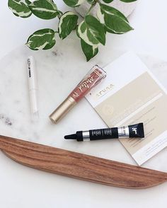 // new in beauty // trying out some new products this weekend: @toofaced matte liquid lipstick, @itcosmetics concealer, @ultabeauty lip primer, and @karunaskin face mask. have any of you tried these before?? what did you think?  get links to all of these (plus the marble platter) here http://liketk.it/2otWe @liketoknow.it #liketkit