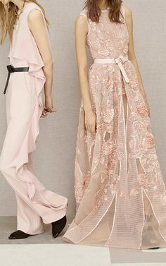 ec0fbc0f6bd3 Crepe Cady And Floating Double Georgette Jumpsuit by ELIE SAAB for Preorder  on Moda Operandi Ellie