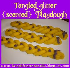 Tangled Glitter Scnented Playdough Party Favor