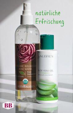 Mein TIPP für frischen Teint: bio Rosenwasser (Gesicht und Körper) und bio Aloe Vera Gel (Gesicht und Dekolleté). Beide Produkte verzichten auf Alkohol, sind vegan und ...