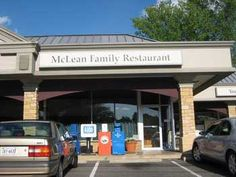 McLean Family Restaurant, OMG someone pinned this. Another place my folks and I frequently dined.