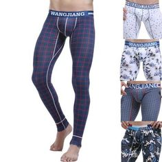 0c454f5fcf Thermal Sexy Casual Cotton Printing Slim Tight Fitting Warm Leggings for Men  is warmest