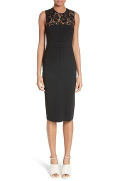Main Image - Valentino Lace Illusion Sheath Dress