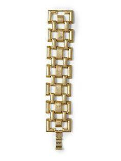 Hive & Honey Square Wide Link Bracelet | Piperlime