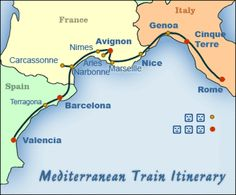 Suggested Mediterranean Itinerary Map