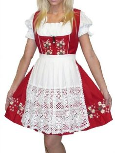 Amazon.com  Dirndl Trachten Haus 3-Piece Short German Wear Party  Oktoberfest Waitress Dress  Clothing 9d1aede4eee9