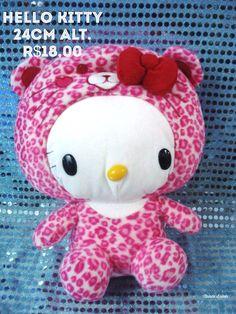 Hello Kit disfarçada de gata cor pink