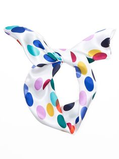 Printed Polyester Twist Scarf. #AmericanApparel