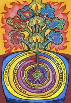 Tree of Life | Kabbalah - Kabbalistic Art - Kosmic Kabbalah Art - David Friedman