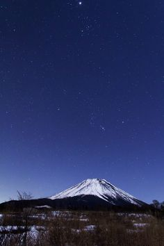 Orion and Mt. Fuji, Japan 富士山